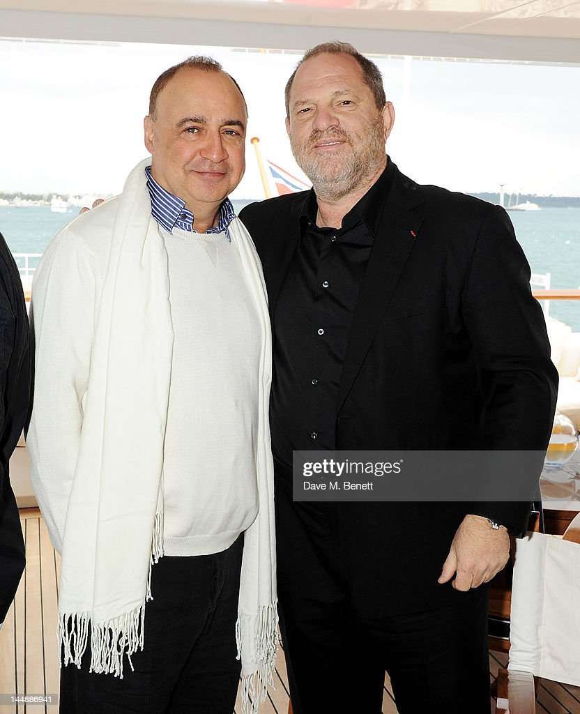 Hosts Len Blavatnik and <a gi-track='captionPersonalityLinkClicked' href=/galleries/search?phrase=Harvey+Weinstein&family=editorial&specificpeople=201749 ng-click='$event.stopPropagation()'>Harvey Weinstein</a> attend a lunch hosted by Len Blavatnik, <a gi-track='captionPersonalityLinkClicked' href=/galleries/search?phrase=Harvey+Weinstein&family=editorial&specificpeople=201749 ng-click='$event.stopPropagation()'>Harvey Weinstein</a> and Warner Music during the 65th Cannes Film Festival on board the Odessa at Old Port on May 20, 2012 in Cannes, France.