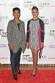 Hosts Lynn Richardson and MC Lyte attend the 2014 Soul Train Music Awards Hip Hop Sisters Panel on November 8 2014 in Las Vegas Nevada