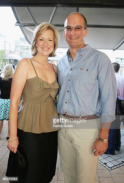Hosts Melissa Doyle and David Koch attend the Channel 7 Cocktail Party in Pyrmont on December 14 2005 in Sydney Australia
