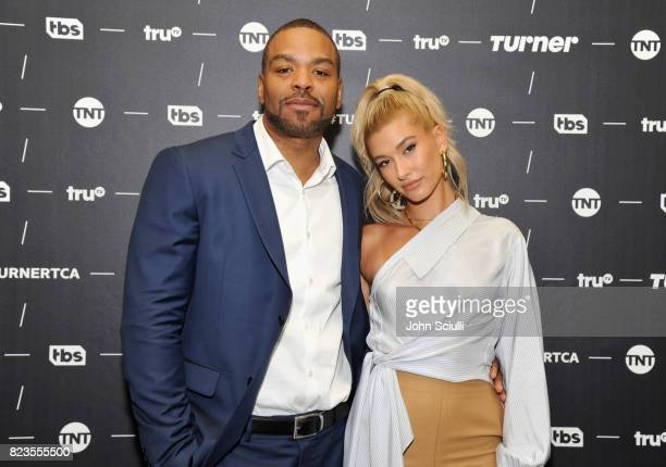 Hosts Method Man and Hailey Baldwin of 'Drop the Mic' at the TCA Turner Summer Press Tour 2017 Green Room at The Beverly Hilton Hotel on July 27 2017...