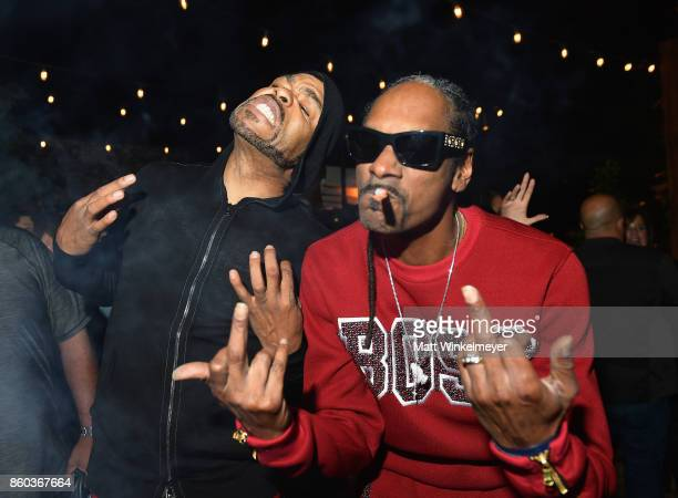 Hosts Method Man and Snoop Dogg at TBS' Drop the Mic and The Joker's Wild Premiere Party at Dream Hotel on October 11 2017 in Hollywood California...