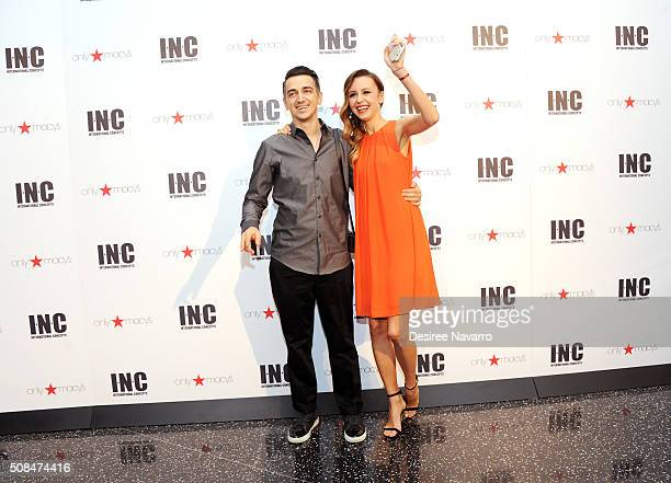 Hosts Murad Osmann and Nataly Osmann attend INC Spring 2016 Campaign Launch Party at One World Observatory on February 4 2016 in New York City