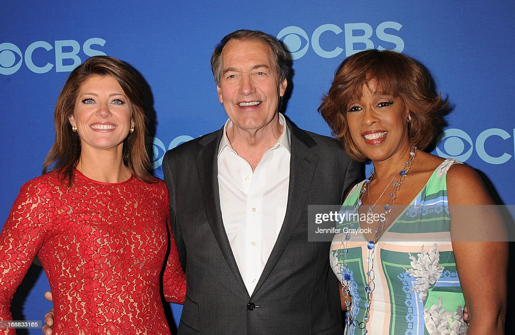 TV Hosts (L-R) Norah O'Donnell, <a gi-track='captionPersonalityLinkClicked' href=/galleries/search?phrase=Charlie+Rose&family=editorial&specificpeople=535420 ng-click='$event.stopPropagation()'>Charlie Rose</a> and <a gi-track='captionPersonalityLinkClicked' href=/galleries/search?phrase=Gayle+King&family=editorial&specificpeople=215469 ng-click='$event.stopPropagation()'>Gayle King</a> attend the CBS 2013 Upfront Presentation at The Tent at Lincoln Center on May 15, 2013 in New York City.