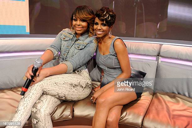 Hosts Paigion and Miss Mykie at BET's '106 Park' at BET Studios on April 16 2013 in New York City