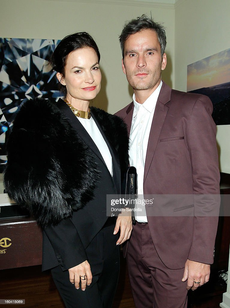 Hosts Rosetta Getty (L) and Balthazar Getty attend Hoorsenbuhs for Forevermark Collection cocktail party at Chateau Marmont on January 30, 2013 in Los Angeles, California.