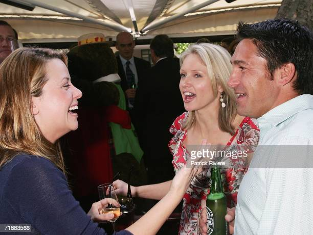 TV hosts Toni Pearen Livinia Nixon and Jamie Durie attend the Channel Nine lunch to celebrate Australian television's 50th birthday at the Peacock...
