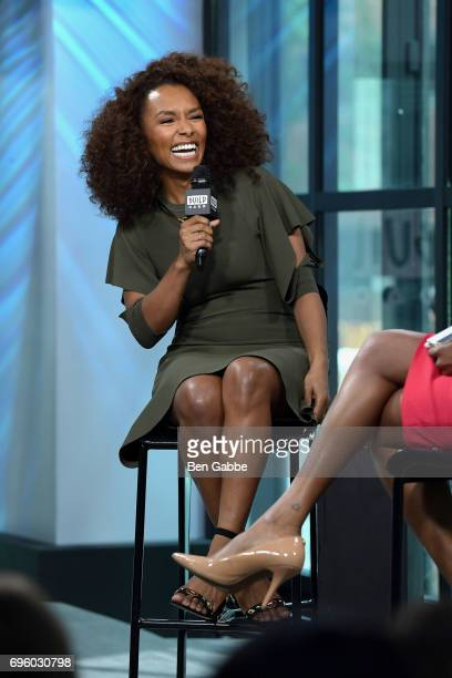Host/writer Janet Mock attends the Build Series to discuss her new book 'Surpassing Certainty What My Twenties Taught Me' at Build Studio on June 14...