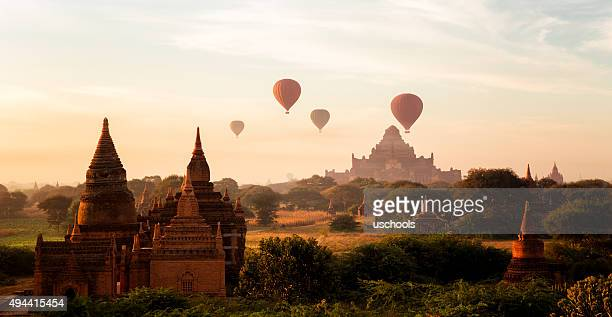 Hot Air Ballons over Bagan , Burma