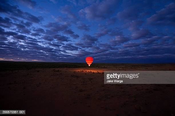 Hot air balloon, dawn, Alice Springs, Australia