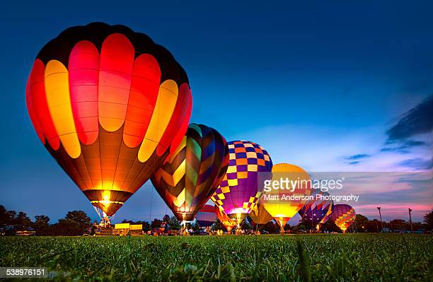 Hot Air Balloon Festival Night Glow
