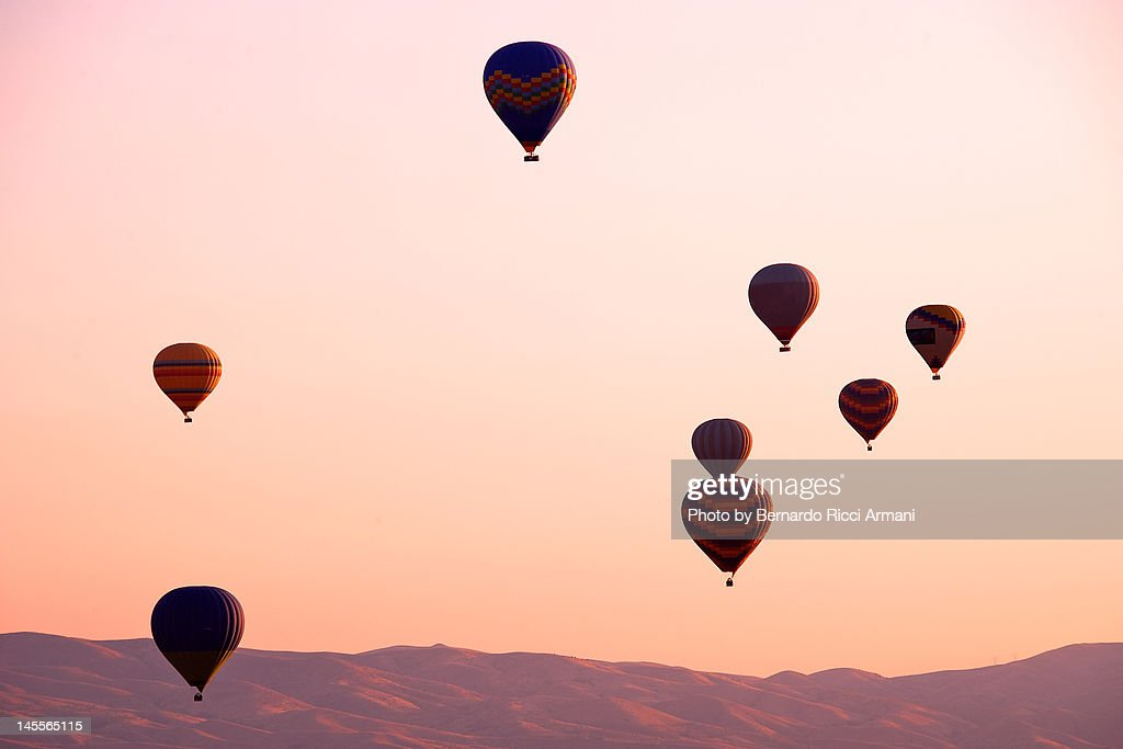 Hot air balloon flight in Cappadocia : Stock Photo