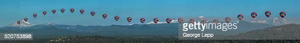 Hot Air Balloon Over Bend, Oregon