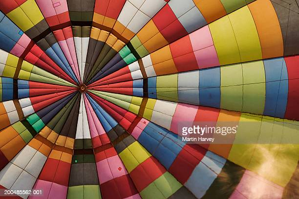 Hot air balloon with flame, full frame