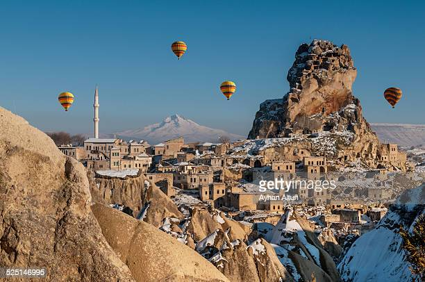 Hot air ballooning in Cappadocia,Nevsehir,Turkey