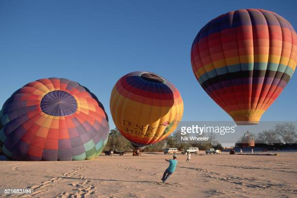 Hot Air Ballooning in Desert