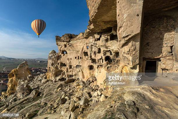 Hot Air Ballooning over Cavusin in Cappadocia