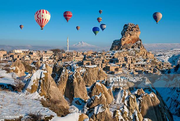 Hot Air Ballooning over Ortahisar in Cappadocia