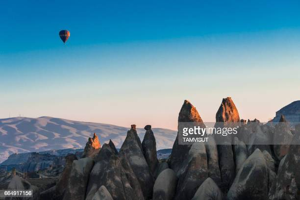 hot air balloons at Cappadocia Turkey.