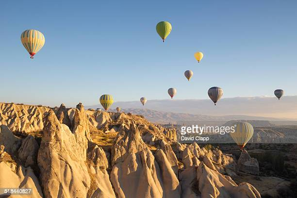 Hot air balloons at dawn, Cappadocia, Turkey