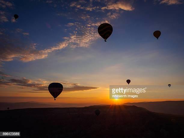 Hot air balloons at sunrise, Cappadocia Turkey