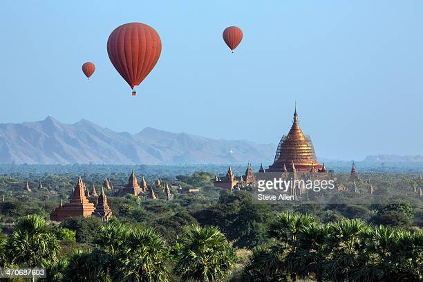 Hot air balloons, Bagan, Myanmar