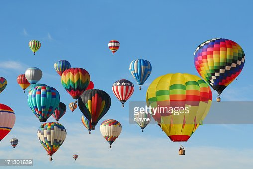 Hot Air Balloons flying high