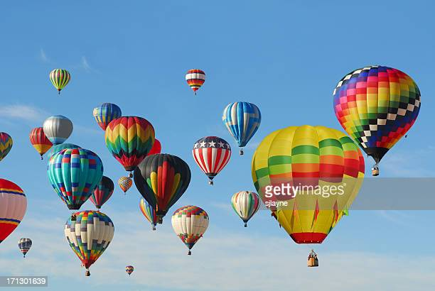 Hot Air Balloons flying high