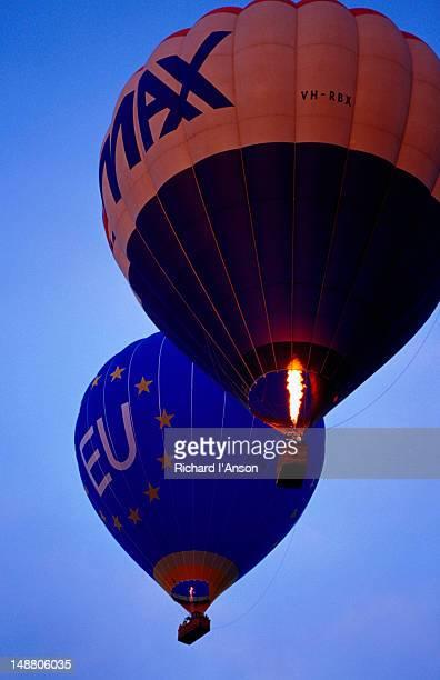 Hot air balloons from Balloons Aloft on sunrise flight.