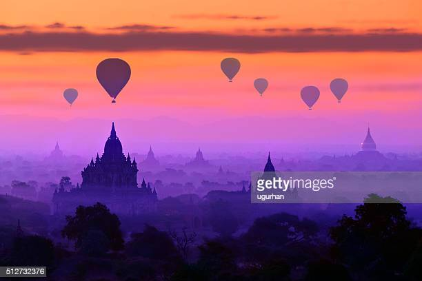 Chaud Air ballons de Bagan, Myanmar