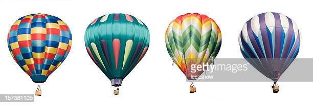 Hot Air Balloons-isolé sur blanc