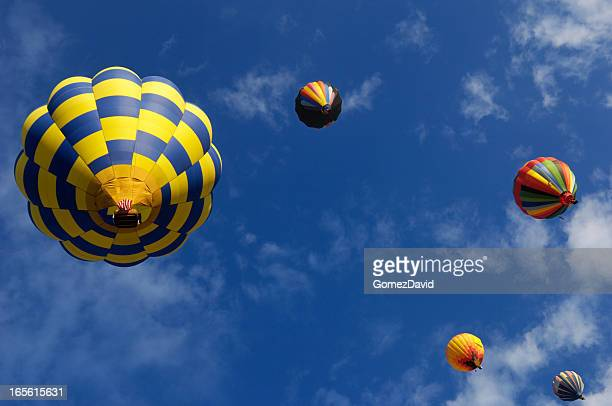 Hot Air Balloons, Sky and Clouds