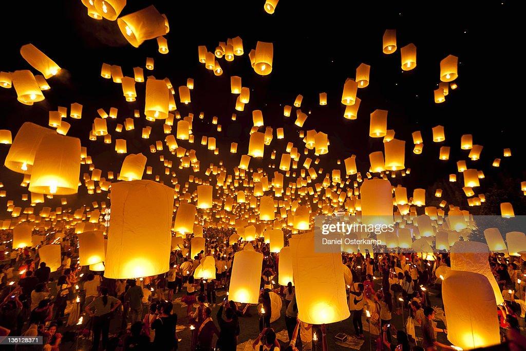 Hot air fire lantern