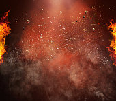 hot and spicy background with copy space