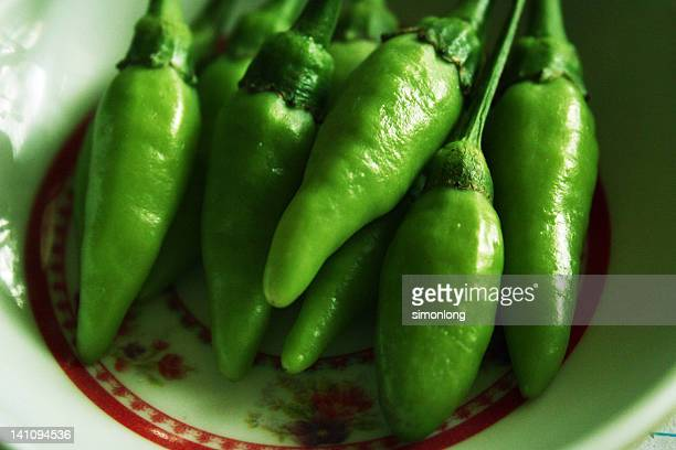 Hot and spicy chillies