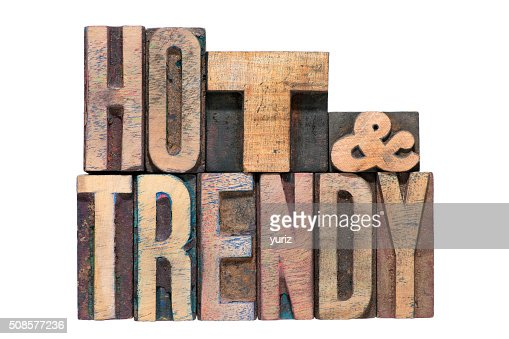 hot and trendy isolated : Stock Photo