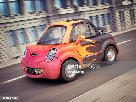 hot car in the city : Stockfoto