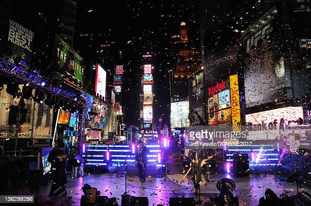 Hot Chelle Rae performs during Dick Clark's New Year's Rockin' Eve with Ryan Seacrest 2012 at Times Square on December 31 2011 in New York City