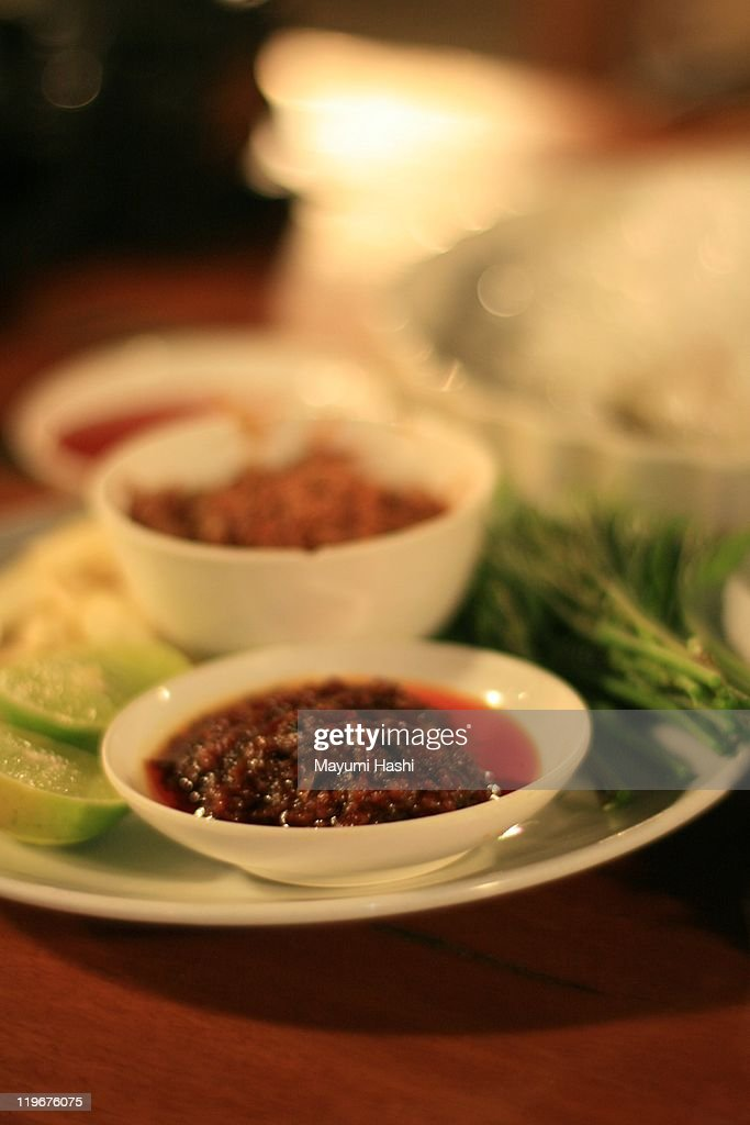 Hot chili sauces : Stock Photo