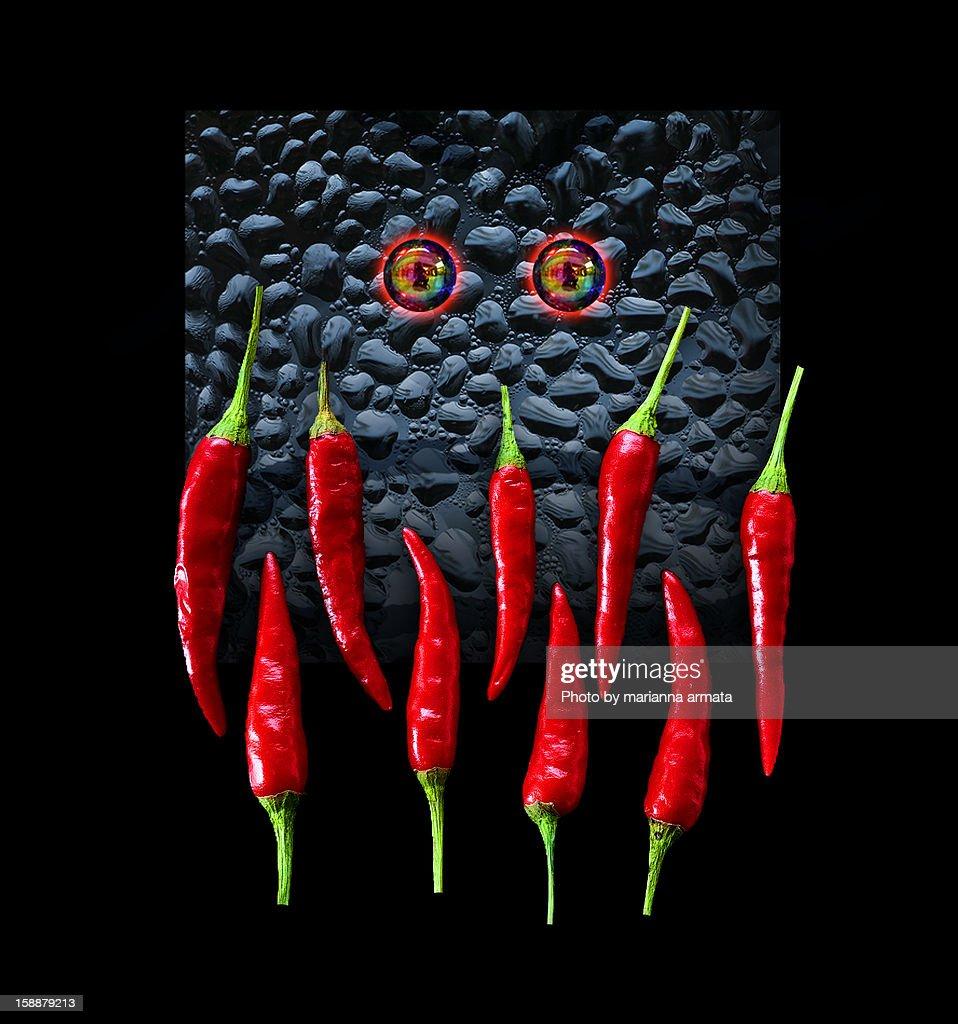 Hot Chilli Monster : Stock Photo