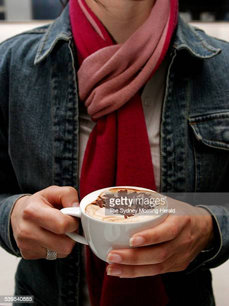 Hot chocolate from the Lindt Cafe at 53 Martin Place Sydney 9 June 2005 SMH GOOD LIVING Photo by DOMINO POSTIGLIONE