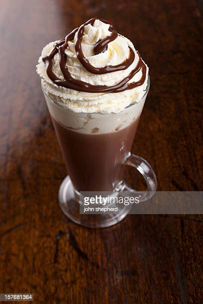 Hot Chocolate topped with fresh whipped cream