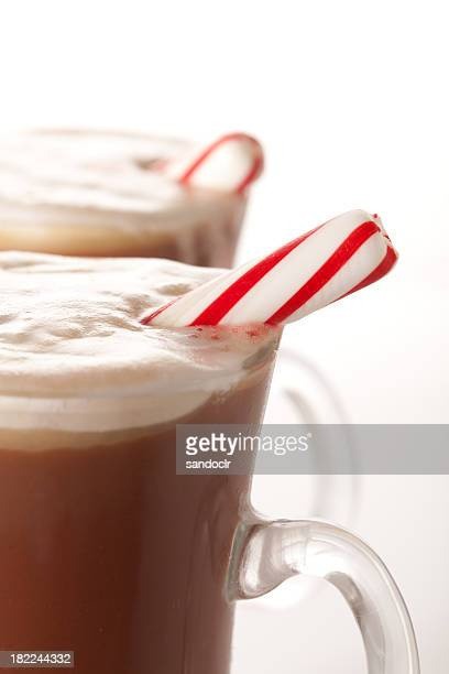 Hot Chocolate with pepermint sticks