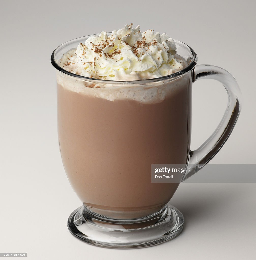 hot chocolate with whipped cream stock photo getty images. Black Bedroom Furniture Sets. Home Design Ideas