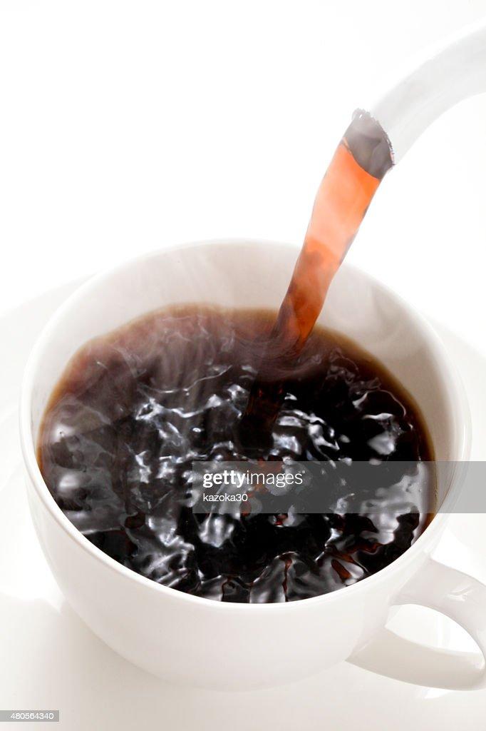 Hot coffee : Stock Photo