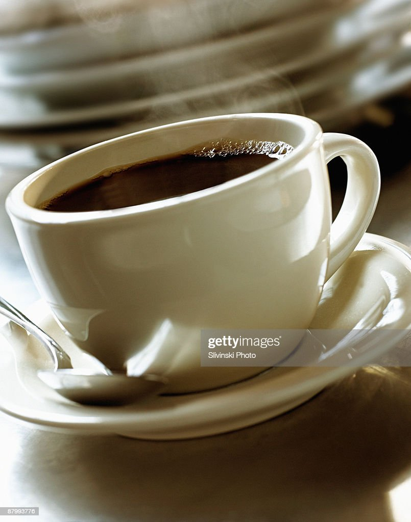 Hot coffee : Stock Photo