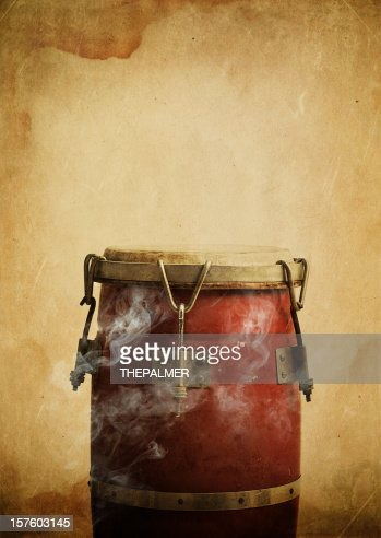 hot congas with smoke coming out