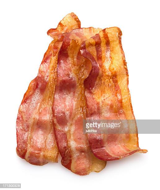 Hot crispy bacon