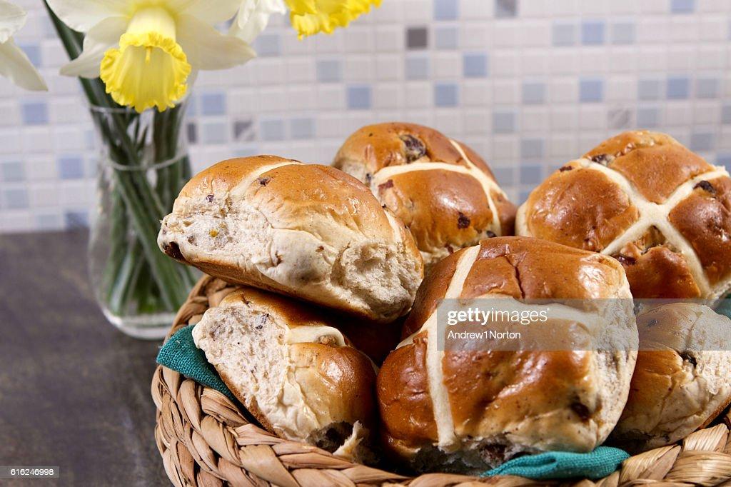 Hot cross buns : Stock Photo