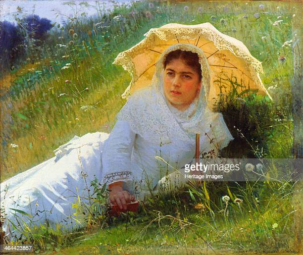 'A Hot Day ' 1883 Found in the collection of the State Art Museum Nizhny Novgorod Russia