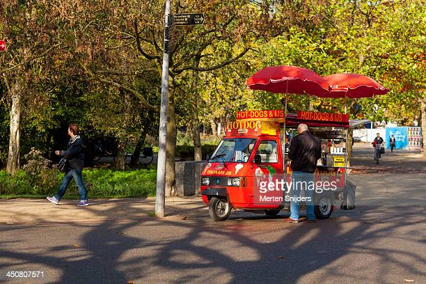 Hot dog cart in the Vondelpark